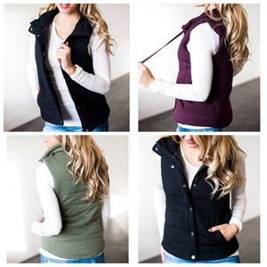 Jackets & Blazers - French Terry Puffer Vest